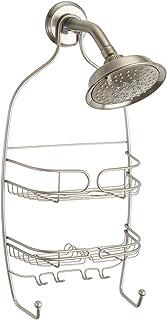 iDesign Neo Shower Toiletry Holder, Metal Hanging Shower Caddy, Satin