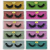 3D Mink Lashes Wholesale 10 Pairs Natural Long False Eyelashes Hand Made Makeup Thick Mink Eyelashes Pack In Bulk (10 Styles)