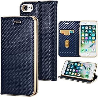 (iPhone 7 iPhone 8) フリップ 財布 シェル カバー 360度 フル ボディー 保護 緩衝器 カバー, プレミアム Leather Phone Cases 材料-Blue