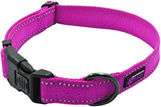 Max and Neo NEO Nylon Buckle Reflective Dog Collar - We Donate a Collar to a Dog Rescue for Every Collar Sold