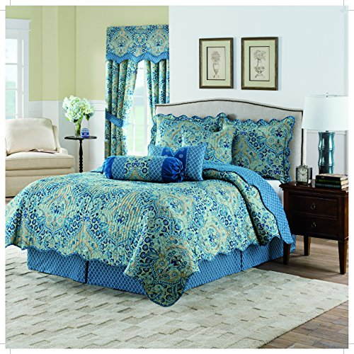 WAVERLY Moonlit Shadows Quilt Collection, Full/Queen, Lapis