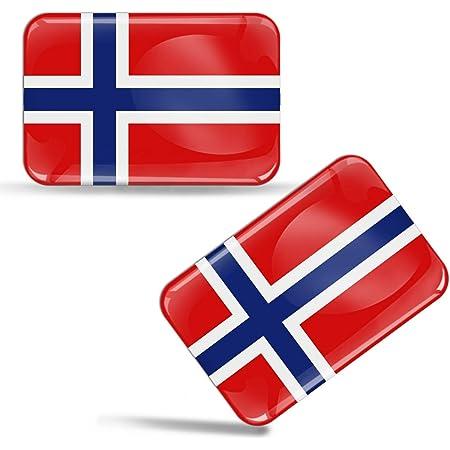 Biomar Labs 2 X Aufkleber 3d Gel Silikon Stickers Norway Norwegen Norwegische Flagge Fahne Flag Auto Motorrad Fahrrad Fenster Tür Pc Handy Tablet Laptop F 48 Auto