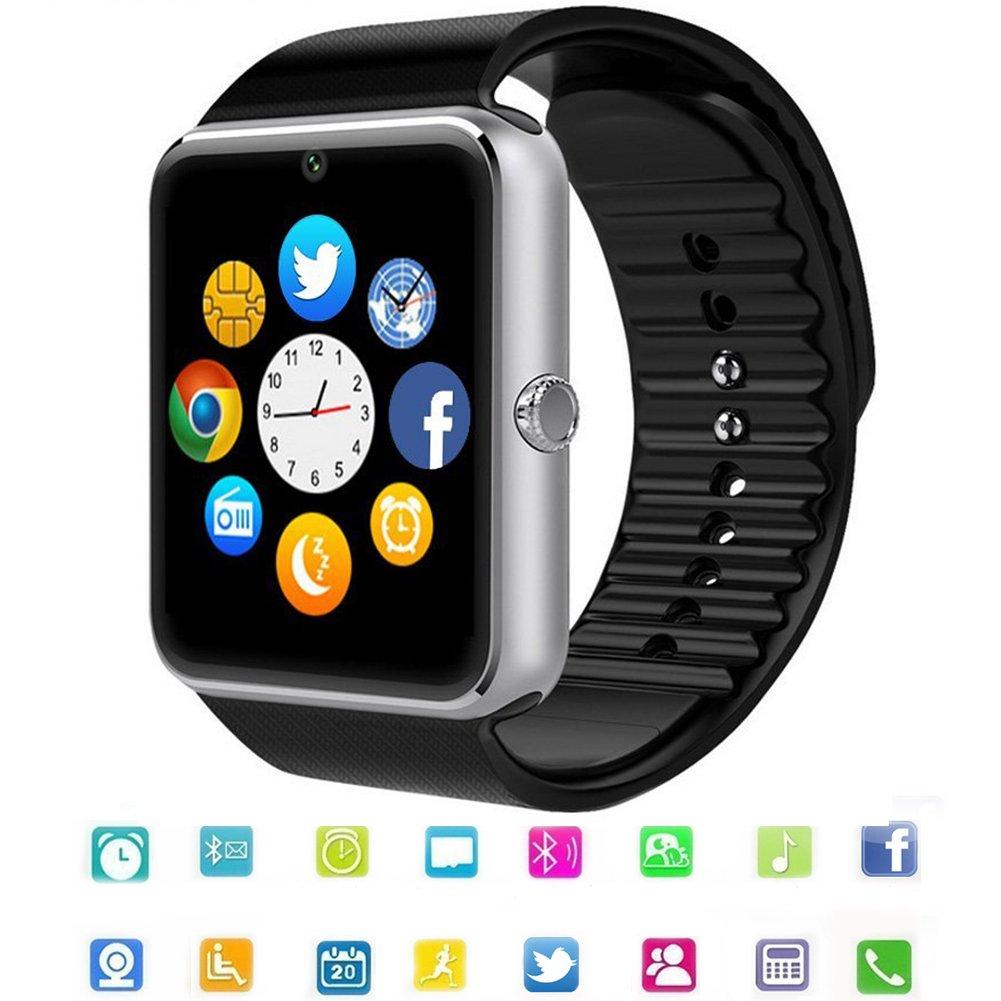 Reloj Inteligente Smart Watch Bluetooth Tagobee TB04 Tarjeta SIM Cámara Podómetro Whatsapp Notifications Compatible con Todos los teléfonos Android y iOS (función Parcial)(Plata): Amazon.es: Electrónica