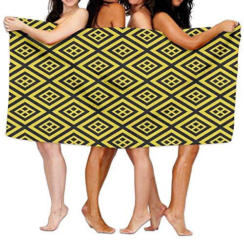 Gebrb Duschtücher/Badetücher,Strandtücher, Women's Bath Towel Wrap - Gold Stripe Travel Waffle Spa Beach Towel Wrap for Women