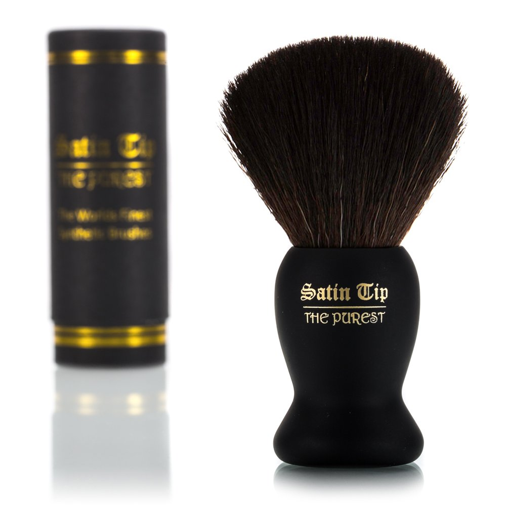 Satin Nippon regular agency Tip – The Purest Soft Synthetic Brush Shave Austin Mall Black