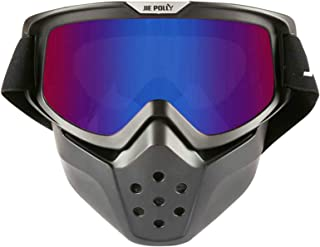 Aooaz Retro Grimace Mask Knight Motorcycle Racing Glasses Mask Goggles