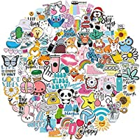 ✨【100 PCS CUTE STICKERS】Hydro flask stickers contain 100 pieces of different pattern vinyl stickers, laptop stickers size range from 1.5 inches to 4 inches, Water bottle stickers are rich in popular elements and Suitable for many occasions, Different...