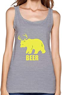 Guwmi Women's Bear Beer Vest Red XXXL