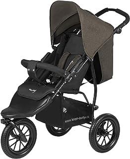 Carrito para niños de la marca Knorr-Baby, con tres ruedas y capota brau