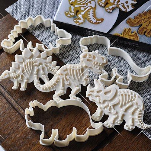 tianxiangjjeu 6 Stück Kuchen-Form Dinosaurier Plätzchen Ausstechformen Set Backformen Dekoration Werkzeuge multi