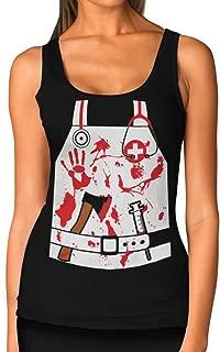 Bloody Nurse/Doctor Zombie Halloween Costume Women Tank Top