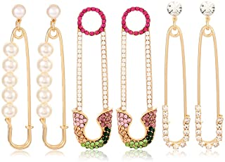 Cute Yellow Crystal Faux Pearl Bee Rhinestones Dangle Drop Statement Stud Post Earrings Jewelry Gift A1422