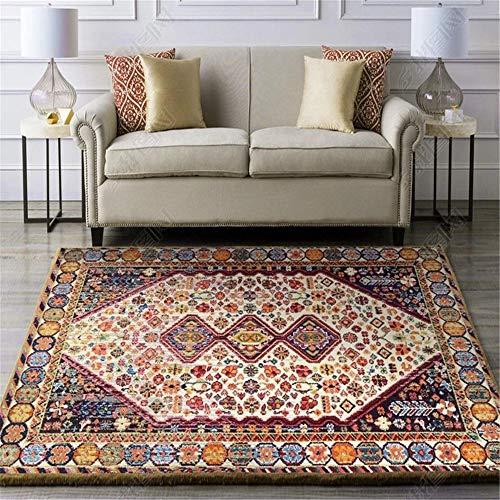 ZHAOPAI kortpolig tapijt, eenvoudige antislip retro-tapijt, vervagen niet, moderne, lichte geluidsisolerende tapijten