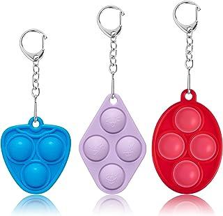 Mini Push Bubble Fidget Sensory Toys - Portable Simple Dimple Decompression Toys,Adult and Child Gift Keychain Push Sensor...