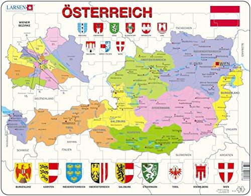 """Larsen K41 Rahmenpuzzle """"Österreich"""" 70 Teile"""