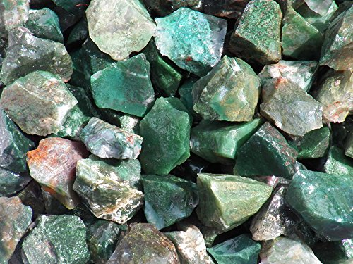 The Fundamental Rockhound Products: Rough Moss Agate Natural Bulk Rock for Tumbling Metaphysical Gemstones Healing Crystals Wholesale Lot (2 lb)
