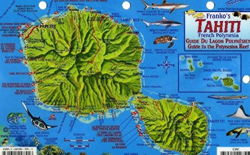 Download Tahiti Map & Guide To The Polynesian Reef Franko Maps Laminated Fish Card 