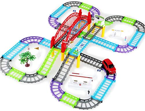 descuento de ventas Siyushop Car Track Toys Assembly Adventure (68 Piezas) Juego Juego Juego de Desarrollo de Habilidades Juego de Juguete   Ayuda a desarrollar el Cerebro de los Niños - Racing Track Boy Car Toy 3-12 Boy  hasta 60% de descuento