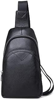 Lcxliga Sling Bag, Leather Chest Bag Crossbody Shoulder Business Backpack Outdoor
