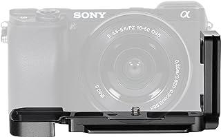 Neewer Aluminio L-Placa de Liberación Rápida Soporte Empuñadura para Sony Alpha A6300 Arca de cámara/RRS Abrazadera de Palanca Compatible (Negro)