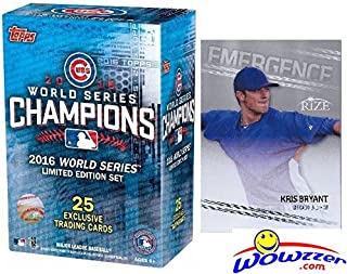 2016 Topps Chicago Cubs World Series CHAMPIONS Box Set with BONUS 2013 KRIS BRYANT ROOKIE Card! Set includes Bryant, Kyle Schwarber, Anthony Rizzo, Addison Russell, Javier Baez, David Ross & More!