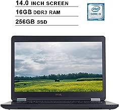 2019 Premium Dell Latitude E5470 Ultrabook 14 Inch Business Laptop (Intel Dual Core i5-6300U up to 3.2GHz, 16GB DDR3 RAM, 256GB SSD, Intel HD 520, WiFi, Bluetooth, HDMI, Windows 10 Pro) (Renewed)