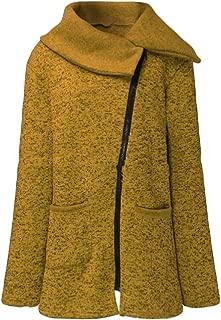 Macondoo Women's Fashion Outerwear Coat Fleece Oblique Zipper Jacket