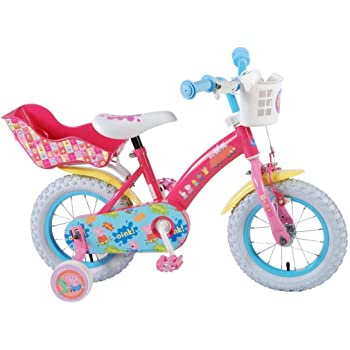 Peppa Pig Bicicleta Niña 12 Pulgadas Ruedas Extraíbles la Cesta y ...