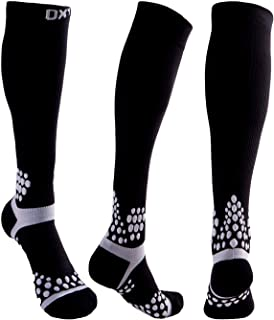 OXYVAN 4 Pairs Cushion Compression Socks for Women & Men 20-30 mmHg Graduate Athletic Fit for Nurse, Running, Flight Travel, Shin Splints, Maternity Pregnancy