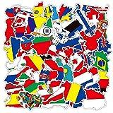 JKMQA dx Juguetes 10/30 / 50pcs World Flag Anime Dibujos Animados Graffiti Viajes Chico Portátil Maleta Monopatín Guitarra Impermeable Etiqueta Venta al por Mayor (Color : 30PCS)