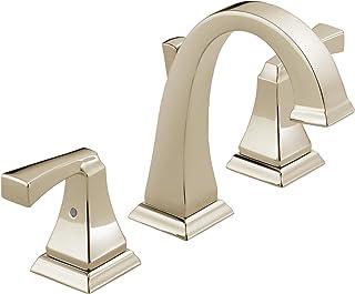 Delta 3551-PNMPU-DST Dryden Two Handle Bathroom Widespread Faucet, Polished Nickel
