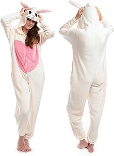 ملابس نوم بشكل بنطال وهودي متصل وتصميم باندا لطيف من البلش للنساء من بودي كاندي، لون اسود