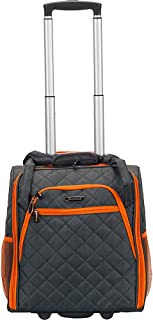 Rockland Melrose Upright Wheeled Underseater Carry-on Luggage