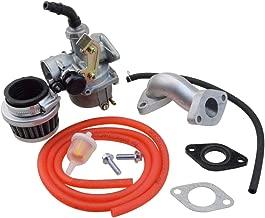 GOOFIT PZ19 Carburetor with Air Filter Carburetor Rebuild Kit for Honda XR/CRF 50cc 70cc 90cc 110cc 125cc Moped ATV POLARIS Taotao Sunl Roketa Baja Kazuma Red
