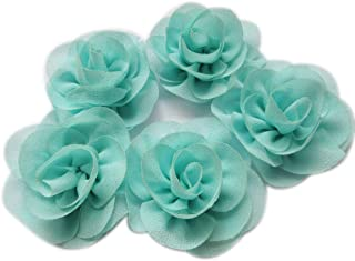 YYCRAFT Pack Of 10 Baby Chiffon Flower Hair Chiffon Rose 2.25