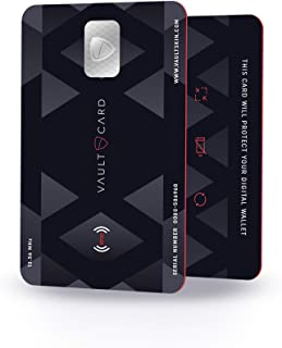 VAULTCARD - RFID Blocking & Jamming Credit & Debit Card Protection for Your Wallet and Passport/NFC Jamming Card, Protects...