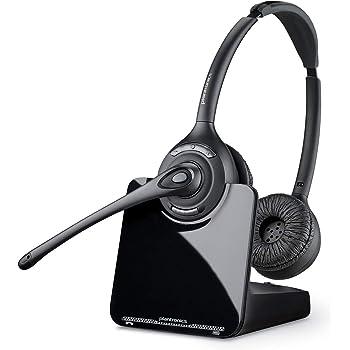 Plantronics PL-CS520 Binaural Wireless Headset System, Black/Silver