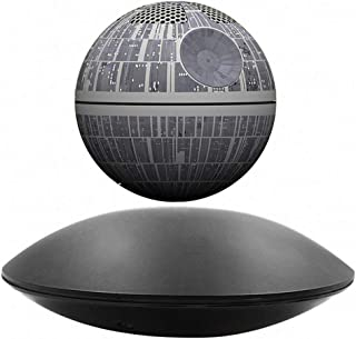 WLPT Bluetooth Speaker, Death Star Magnetic Levitation Sound Bluetooth Speaker ABS Material Floating 3D Surround Effect Glowing in The Dark