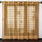 innovative edge Polyester Curtains for Window (Brown, 8ft), Set of 2