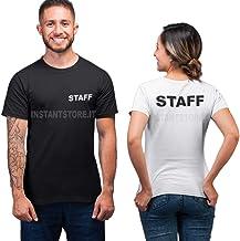 T-Shirt scritta Staff unisex maglietta personalizzata per bar locali negozi ecc