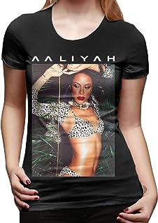 Adsfghre Aaliyah Animal Print Aaliyah Photo Woman's Fashion T Shirts