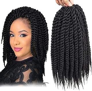 Dingxiu (6 Packs,12 inch) Havana Mambo Twist Crochet Hair Braids Senegalese Twist Crochet Braiding Hair (12