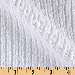 Shannon Fabrics 0457759 Shannon Minky Luxe Cuddle Chenille Snow White Fabric by the Yard