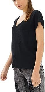trueprodigy Casual Mujer Marca Camiseta Basico Ropa Retro Vintage Rock Vestir Moda Cuello V Manga Corta Slim Fit Designer Cool Urban Fashion t-Shirt