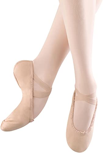 Bloch Dance Wohommes Pump Canvas Split Sole Ballet Slipper,rose,8.5 A US