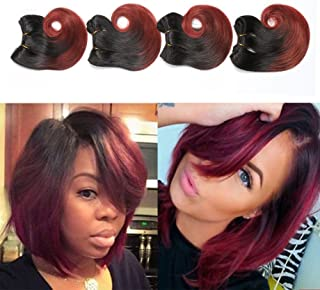 1b/33 Ombre Weave Human Hair Extensions Short Body Wave Bundles Two Tone Brazilian Hair 6