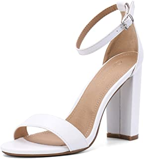 Best white chunky heels Reviews