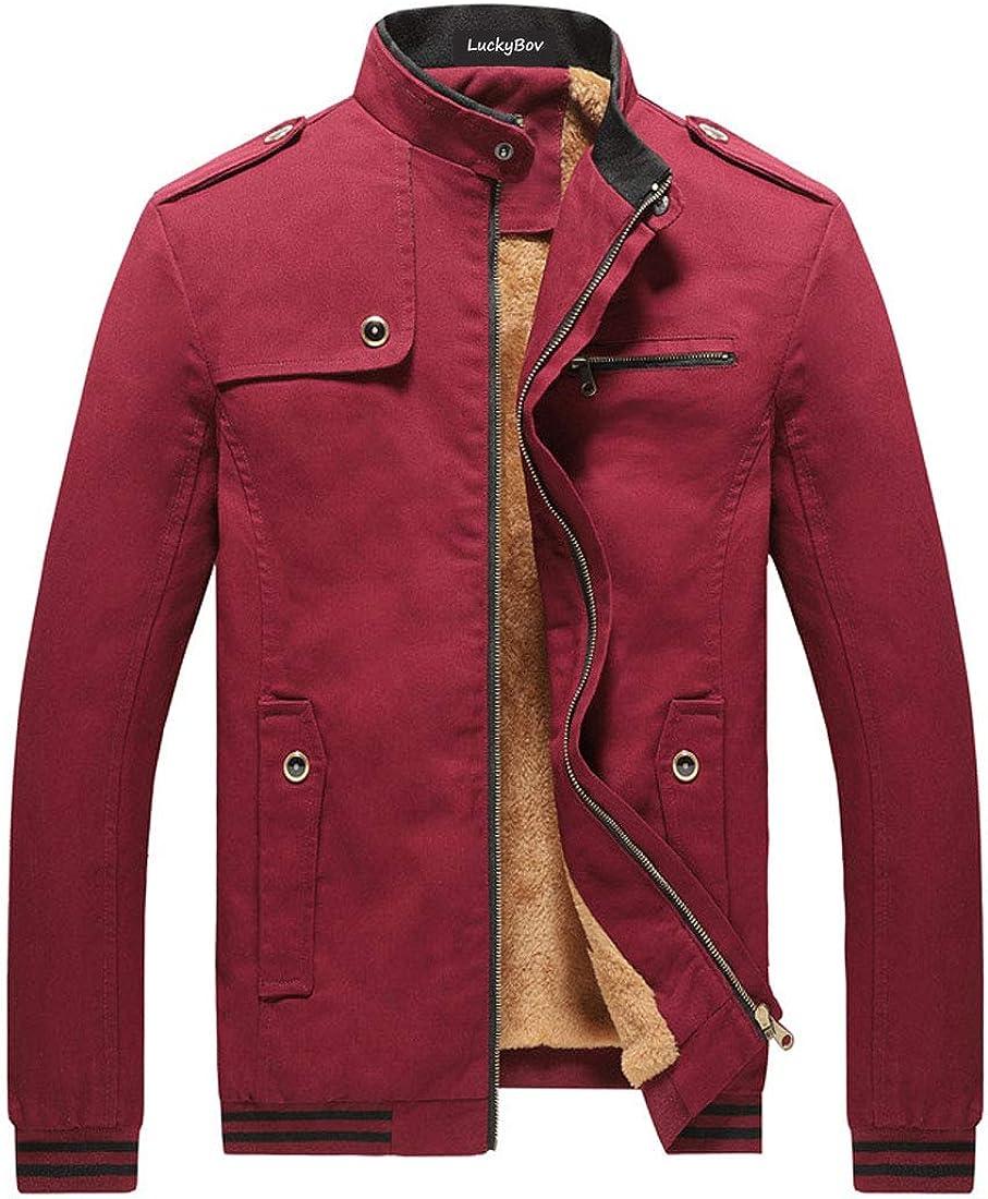 Reservation LuckyBov Winter Jacket Men Fleece Bomb Lined Full Zipper Outdoor Max 48% OFF