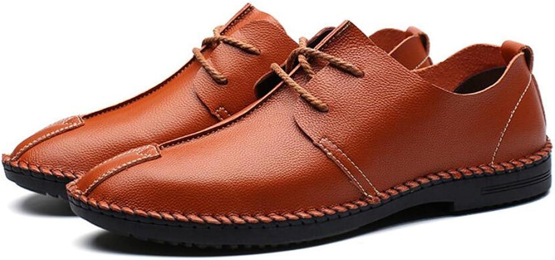 GAOLIXIA Herren Lederschuhe Frühling Retro Freizeitschuhe Mode Einzelne Schuhe Lace Up Soft Bottom Anti-Rutsch-Schuhe  | Gewinnen Sie das Lob der Kunden