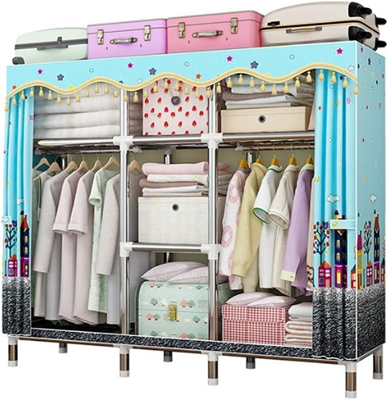 Spring new work BIAOYU Max 46% OFF Wardrobe Oxford Cloth Organiser Storage C Closet